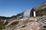 Hut at Wedgemount Lake